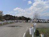 臨時の震災ゴミ集積場