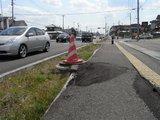 歩道の被害1